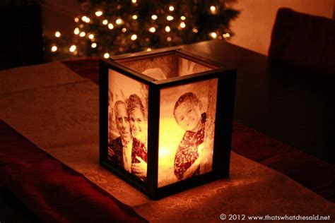 Diy Picture Frame Candle Holder Vellum Board