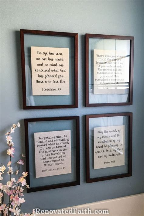 Diy Picture Frame With Words