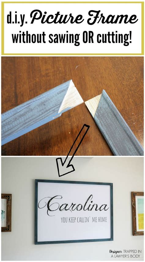 Diy Picture Frame Without Glass