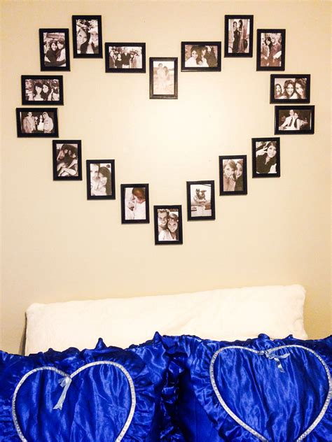 Diy Picture Wall Heart Shaped