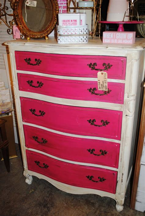 Diy Pink And White Dresser