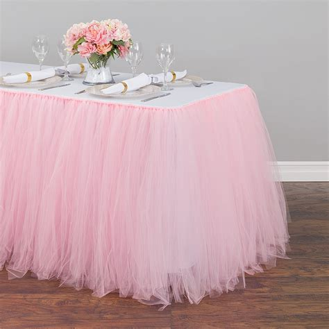 Diy Pink Tulle Table Skirt