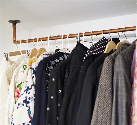 Diy Pipe Clothing Rack Wall Mounted