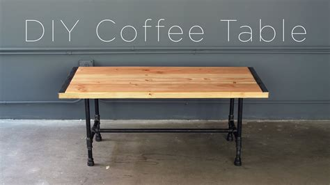 Diy Pipe Coffee Table Youtube