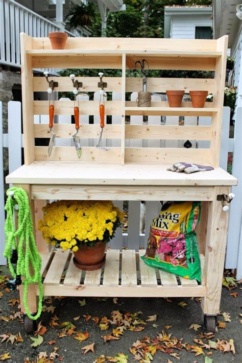 Diy Plans For Potting Table