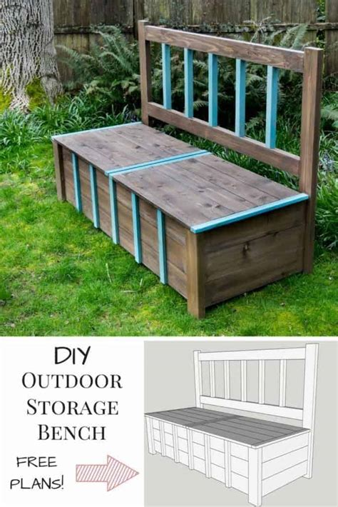 Diy Plans Outdoor Storage Bench