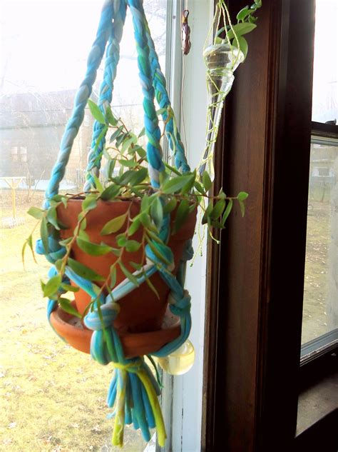 Diy Plant Hanger From T Shirt