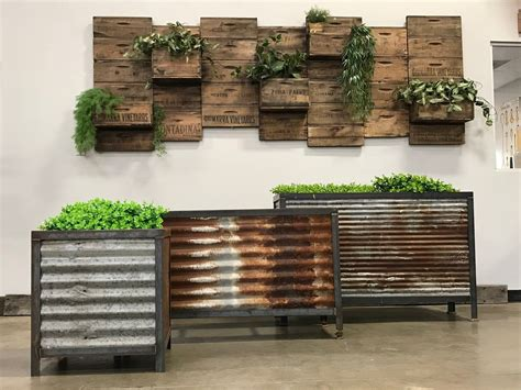 Diy Planter Box With Metal