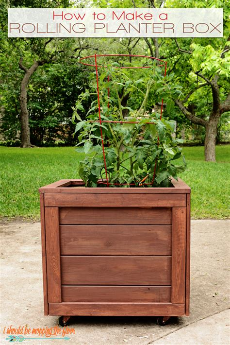 Diy Planter Box With Wheels