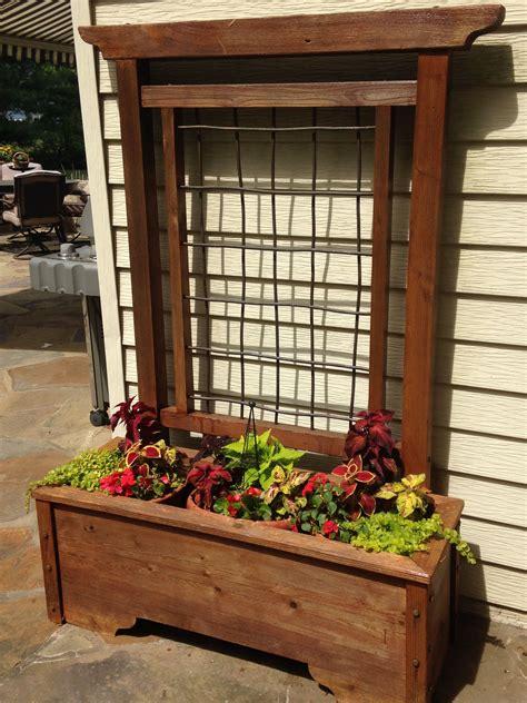 Diy Planter Boxes With Trellis
