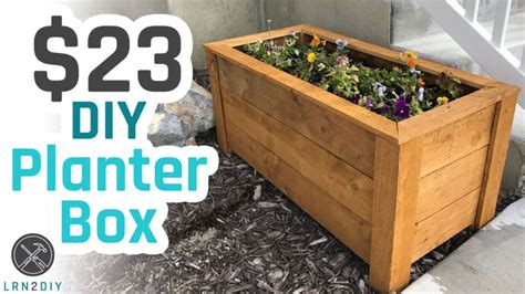 Diy Planter Boxes Youtube