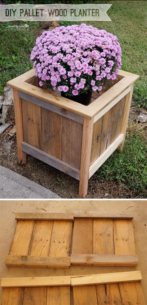 Diy Planters From Wood Pallets