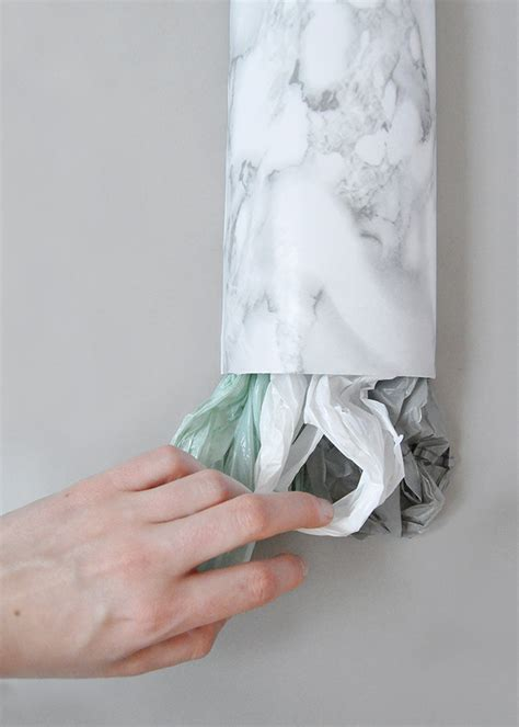 Diy Plastic Bag Holder Mailing Tube