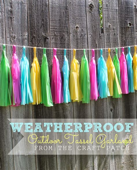 Diy Plastic Tablecloth Outdoor Tassel Garland