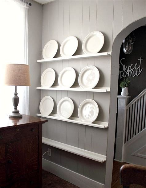 Diy Plate Display Shelf