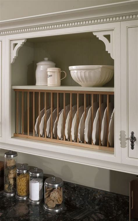 Diy Plate Rack For Kitchen Cabinets