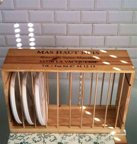 Diy Plate Rack Using Dowels