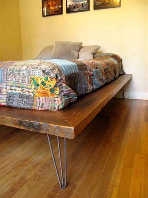Diy Platform Bed With Hairpin Legs Table