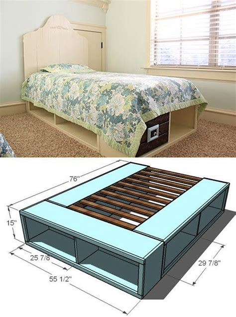 Diy Platform Bed With Storage Twin