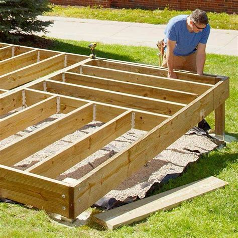 Diy Platform Deck On Ground
