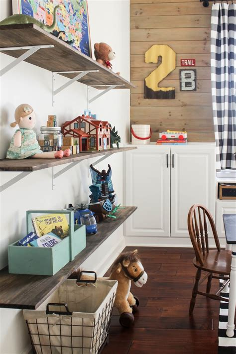 Diy Playroom Shelves