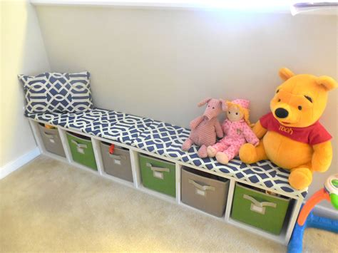 Diy Playroom Storage Bench