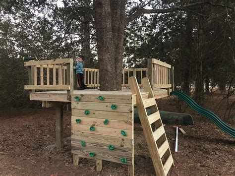 Diy Playset Fort Tree House