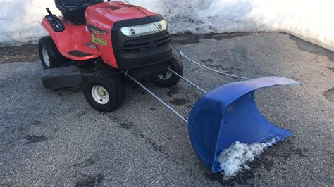 Diy Plow For Lawn Tractor