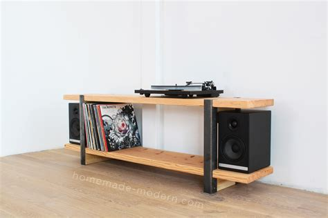 Diy Plywood Media Console Plans