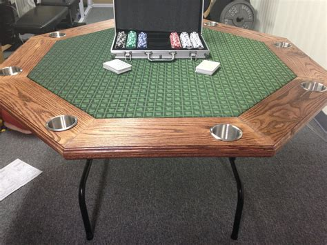 Diy Poker Table From White Folding Table