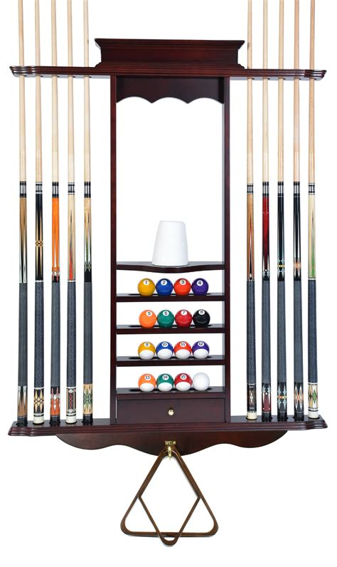 Diy Pool Stick Rack And Wall