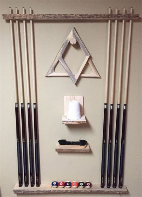 Diy Pool Stick Rack Images