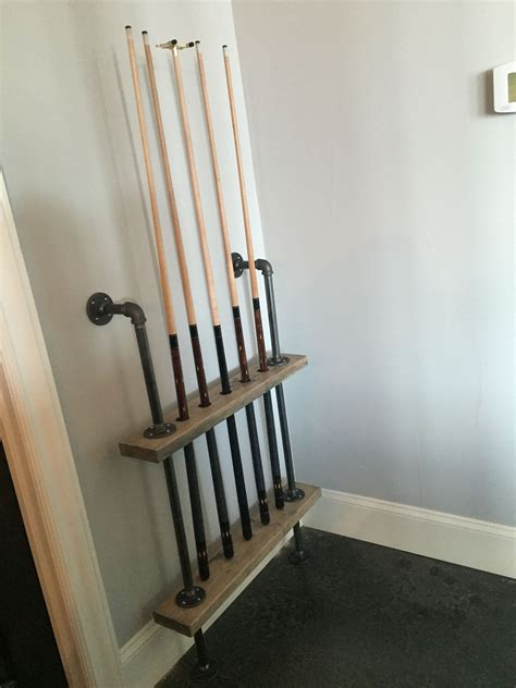 Diy Pool Stick Rack Installation
