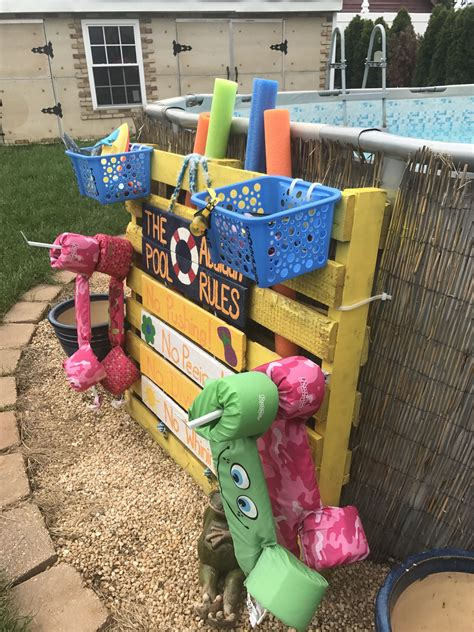 Diy Pool Toy Storage