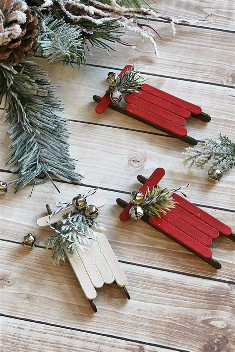 Diy Popsicle Stick Xmas Sleds