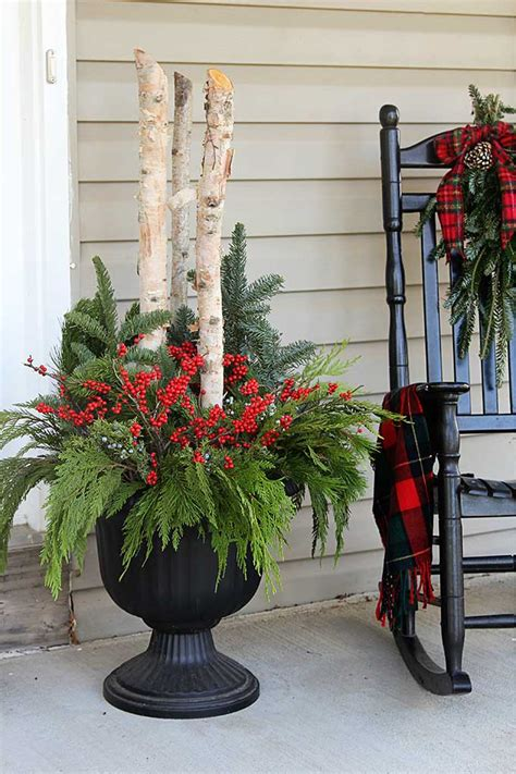 Diy Porch Planters For Christmas Trees