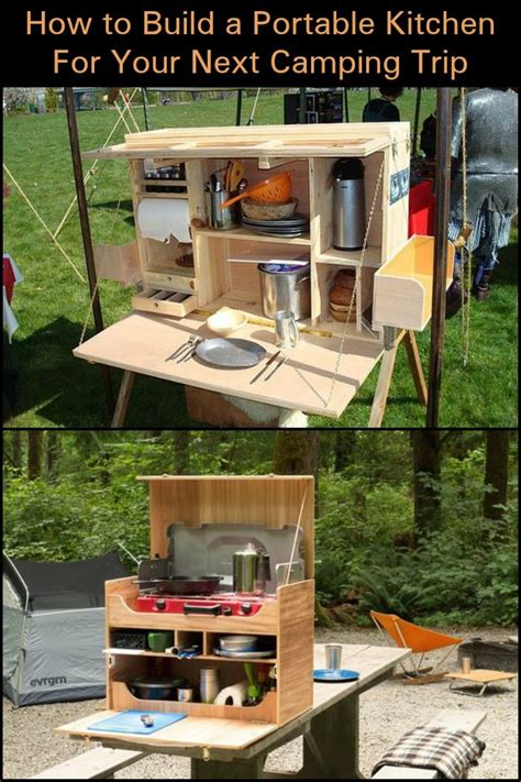 Diy Portable Camp Kitchen Plans