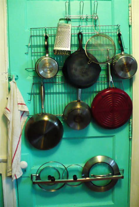 Diy Pot Rack Bookshelf With Doors
