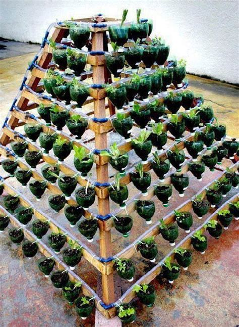 Diy Pot Rack From Plastic Bottles