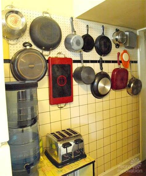 Diy Pots And Pans Storage Pegboard System