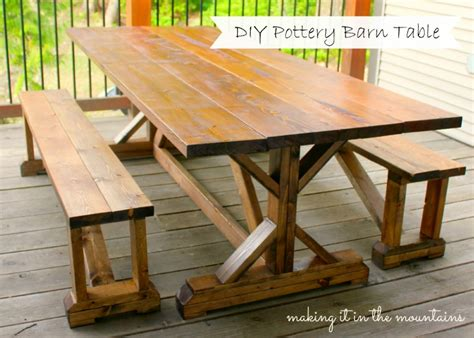 Diy Pottery Barn Inspired Outdoor Dining Table