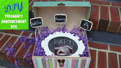Diy Pregnancy Announcement Box Ideas