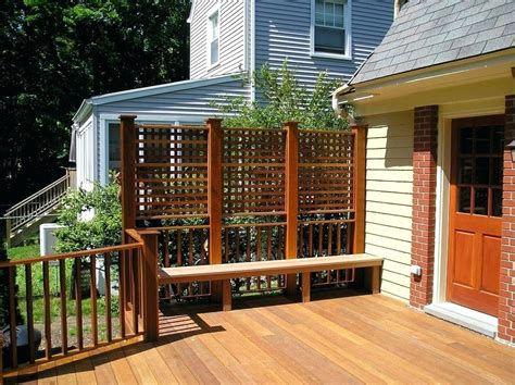 Diy Privacy Fence For A Deck