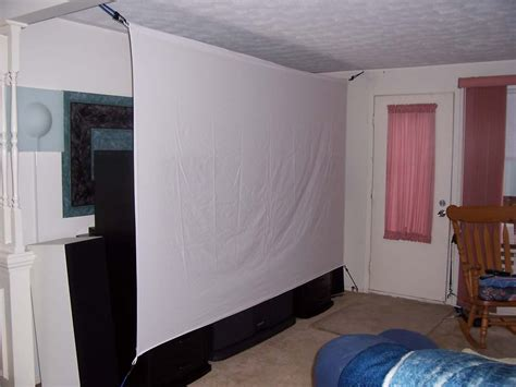 Diy Projector Screen Bed Sheet