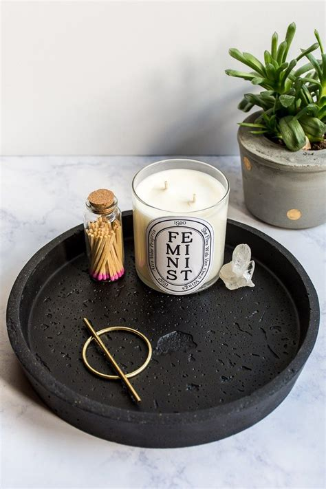 Diy Projects Concrete Round Tray