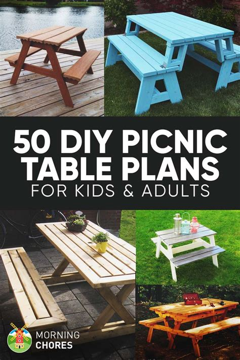 Diy Projects Picnic Table Plans