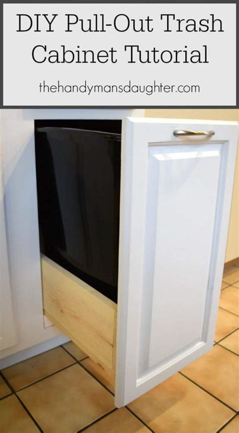 Diy Pull Out Garbage Cabinet