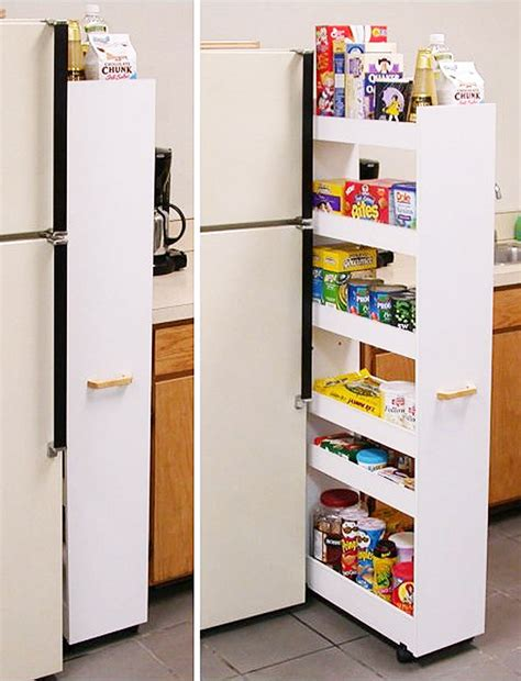 Diy Pull Out Pantry On Wheels