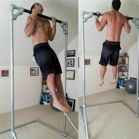 Diy Pull Up Bar Free Standing Pipe Ring Wood