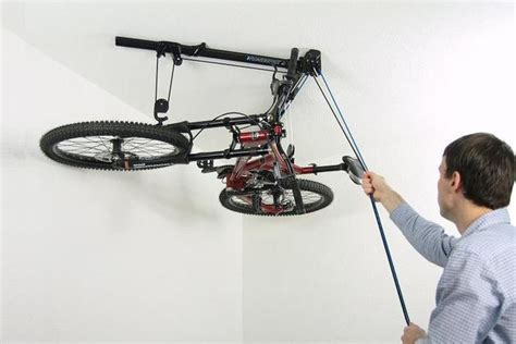Diy Pulley Bike Rack